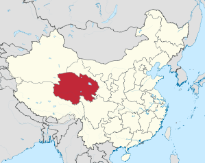 Lage von Qīnghǎi Shěng in China