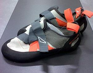 Bouldering - A modern climbing shoe manufactured by Quechua