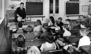 History of state education in Queensland - Classroom in Kelvin Grove State School, 1951