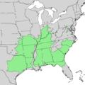 Quercus shumardii range map 1.png