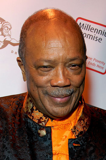 English: Quincy Jones attending an after-party...
