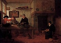 Quiringh van Brekelenkam - Interior of a Tailor's Shop - WGA03175