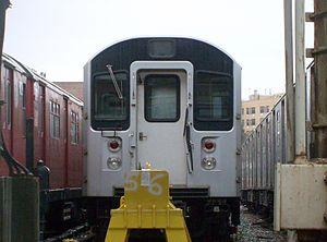 R110A (New York City Subway car) - R110A at the 239th Street Yard in the Bronx