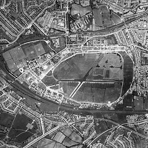Hendon Aerodrome - Aerial view circa 1941-1942