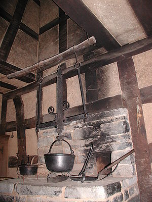 Hearth - Hearth with cooking utensils