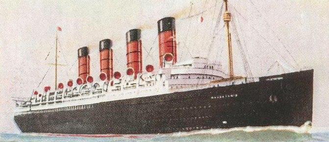 RMS Mauretania card