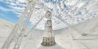 Yevpatoria RT-70 radio telescope - inside antenna mirror of radio telescope RT-70