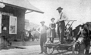 Geyserville, California - Depot in Clairville (now Geyserville), 1885