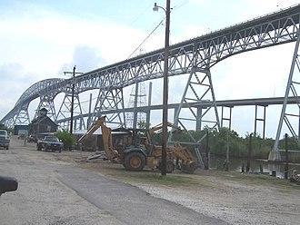 Rainbow Bridge (Texas) - Looking at Rainbow Bridge on its northwest side in Port Arthur, Jefferson County, TX.