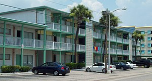 Myrtle Beach, South Carolina - Rainbow Court (1935 to 1959) is listed on the National Register of Historic Places