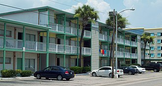 Myrtle Beach, South Carolina - Rainbow Court (1935 to 1959), now demolished, was listed on the National Register of Historic Places.