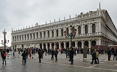 Rainy day in Venice Biblioteca Marciana.jpg