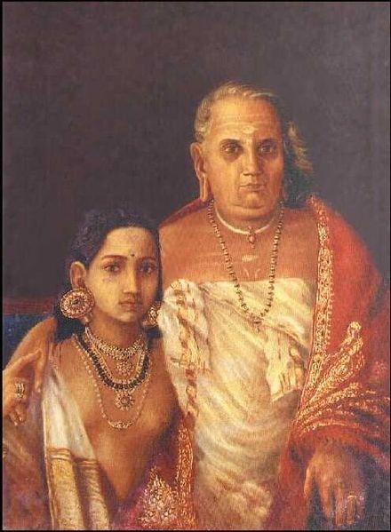 File:Raja Ravi Varma, A Portrait (Girl and grand mother).jpg