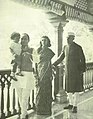Rajiv, Feroze, Indira Gandhi and Jawaharlal Nehru at Anand Bhawan after Jawaharlal Nehru's release from detention.jpg