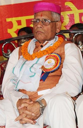 Ratneshwar Lal Kayastha - Ratneshwar Lal Kayastha at Chitragupta Sewa Samiti- Golden Jubilee Ceremony, Rajbiraj in 2018.
