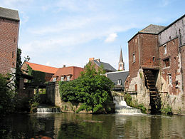 The Arenberg watermills on the river Senne