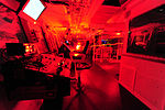 Red lighting helps prevent night blindess on the USCGC Juniper's bridge --120415-G-GV559-080 Juniper Underway.jpg