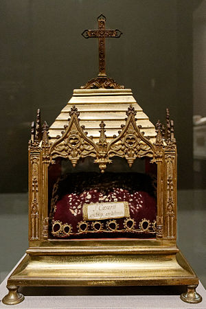 Caesarius of Arles - 19th-century reliquary  of St Caesarius, Church of St. Trophime in Arles