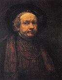 Rembrandt, Self-portrait, 1668–1669, Galleria degli Uffizi, Florence.jpg