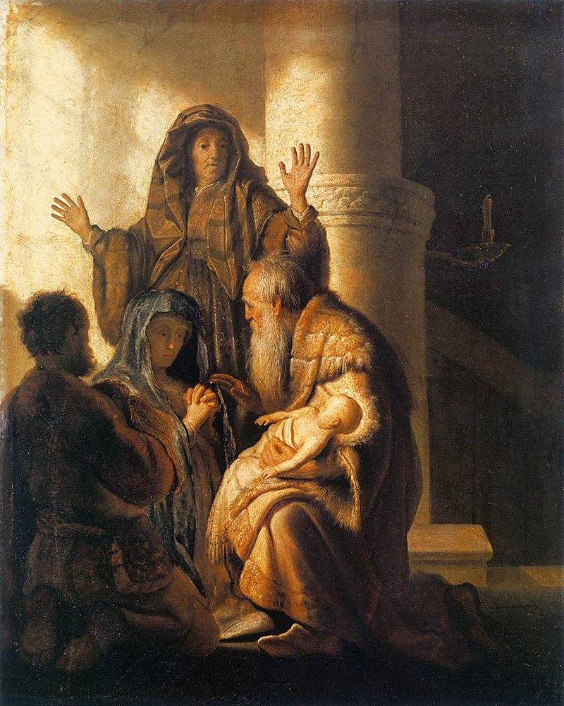 Rembrandt: Simeon und Hanna im Tempel