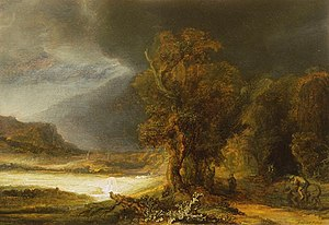 Czartoryski Museum - Rembrandt, Landscape with Good Samaritan