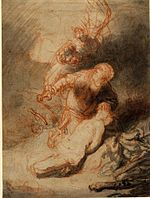 Rembrandt The Angel Preventing Abraham from Sacrificing his Son, Isaac.jpg