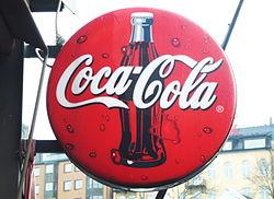 3fd23abb Klassisk Coca Cola-skylt på Restaurang Strömmen, Stockholm.