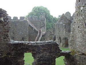 Restormel Castle - The inner chambers at Restormel Castle.