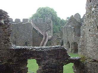 Restormel Castle - The inner chambers of Restormel Castle