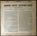 Reverse side of George Lewis' Ragtime Band vinyl album.jpg