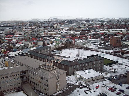 Reykjavík, Iceland's largest metropolitan area and the centre of the Greater Reykjavík Area which, with a population of 200,000, makes for 64% of Iceland's population - Iceland