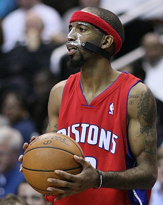 Richard Hamilton (basketball) - Hamilton began wearing a face mask in 2003 that became his trademark.