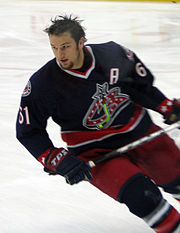 Rick Nash in 2006, playing for the Columbus Blue Jackets