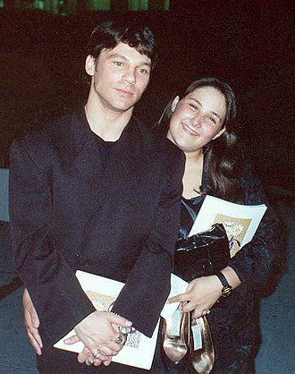 Steve Antin - Steve Antin with Ricki Lake at AIDS Project Los Angeles benefit in 1990