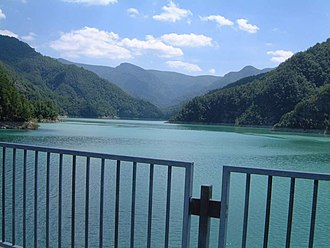 Ridracoli - The lake of Ridracoli.