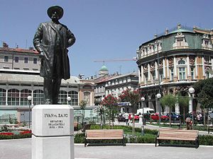 Ivan Zajc - A monument to Ivan Zajc in Rijeka