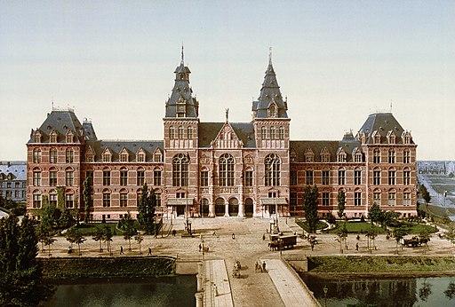 Rijksmuseum Amsterdam ca 1895 rotated