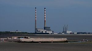 ESB Power station at at Ringsend in Dublin, Ir...