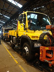 Road-rail vehicle, Tyne and Wear Metro depot open day, 8 August 2010 (1).jpg