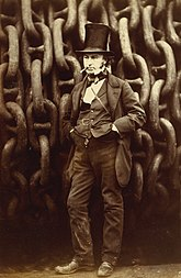 Isambard Kingdom Brunel Robert Howlett (Isambard Kingdom Brunel Standing Before the Launching Chains of the Great Eastern), The Metropolitan Museum of Art (cropped).jpg