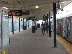 Canarsie, Brooklyn - Subway platform at Rockaway Parkway