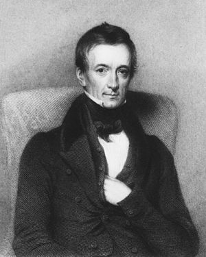 Peter Mark Roget, author of the first modern thesaurus. Roget P M.jpg