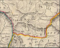 Roman Dardania part of Moesia Superior part of old map made 1830.jpg