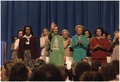 Rosalynn Carter at the National Womens Conference with Betty Ford and Ladybird Johnson. - NARA - 176927.tif