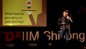 Rajiv Gandhi Indian Institute of Management Shillong - Image: Roshan Abbas at TE Dx IIM Shillong