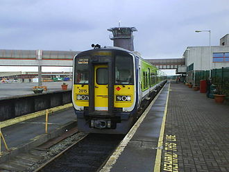 Limerick–Rosslare railway line - 2815 at the former Rosslare Europort station which closed in 2008