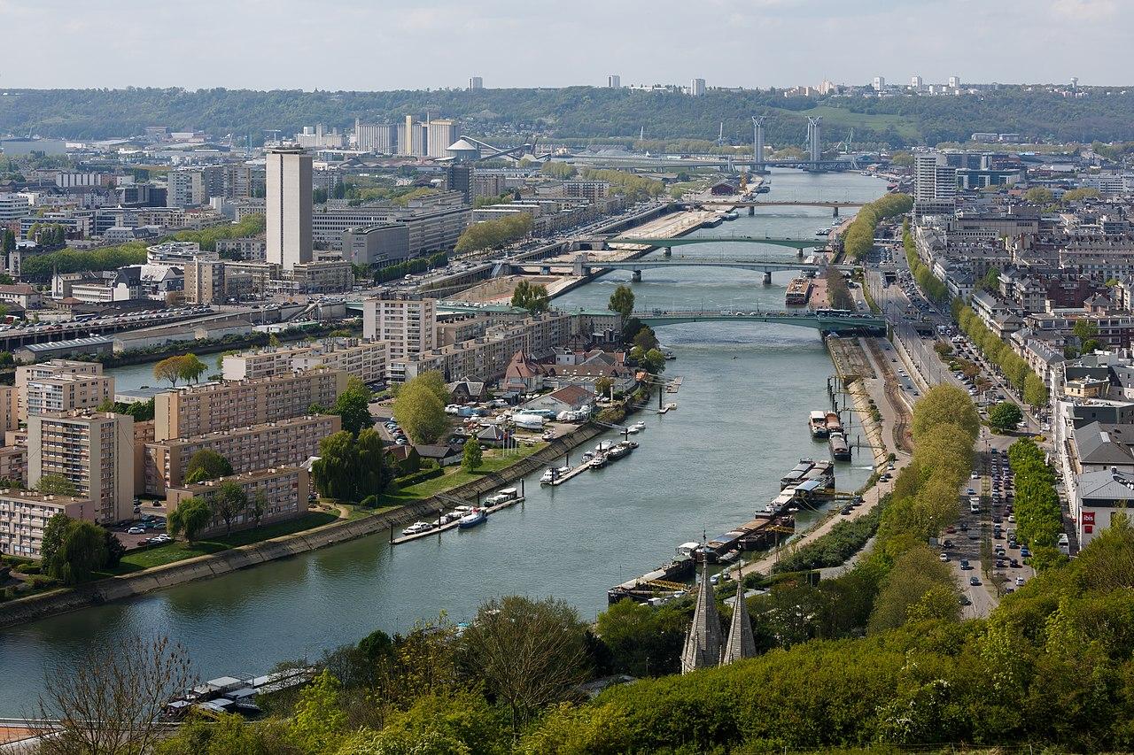 La Seine à Rouen (Haute-Normandie).  (définition réelle 5732×3821)