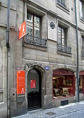 The house where Rousseau was born at number 40, Grand-Rue, Geneva (Source: Wikimedia)