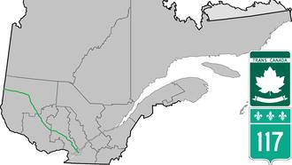Quebec Route 117 - Image: Route 117 QC
