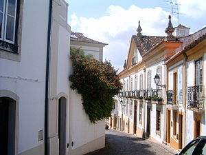 Abrantes - Rua de Abrantes, one the historical roads of the old quarter, in the municipal seat of Abrantes